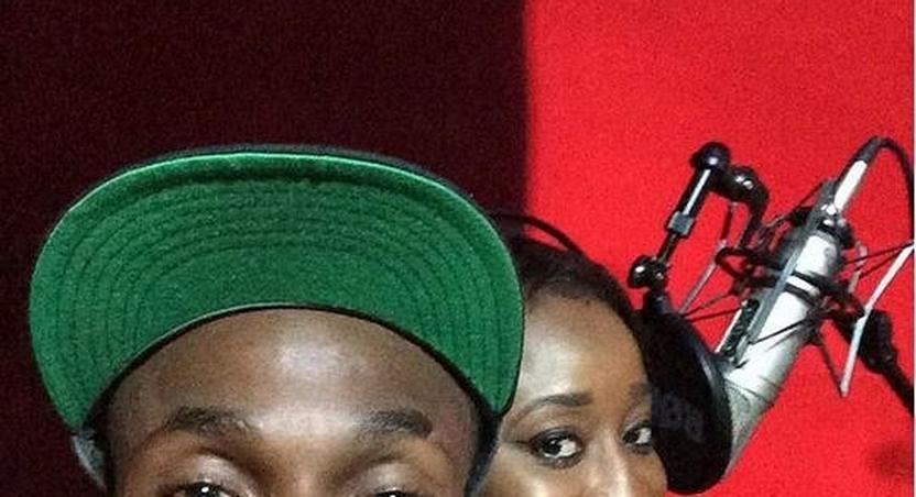 Ini Edo and Da Suspect in the studio