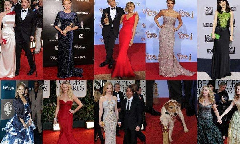 Złote Globy 2012 - kreacje gwiazd
