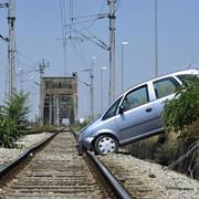 Izletanje vozila sa Pančevackog mosta