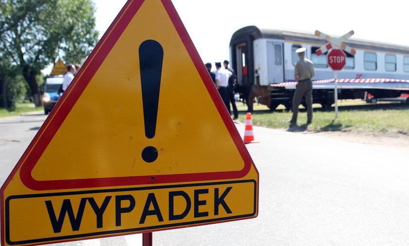 Ilustracja wypadku kolejowego