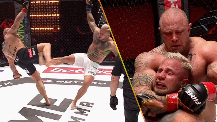 """FAME MMA 8: """"Bestia"""" poddał Szeligę duszeniem zza pleców w trzeciej rundzie!"""