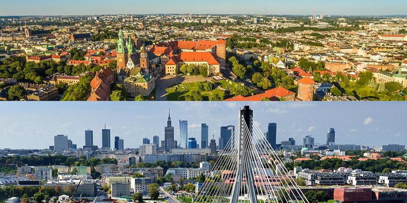Kraków kontra Warszawa