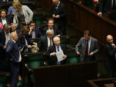 Sejm w noc z 18 na 19 lipca, w trakcie prad nad ustawą o Sądzie Najwyższym