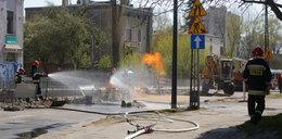 Chwile grozy. Wybuchł gazu na ulicy!