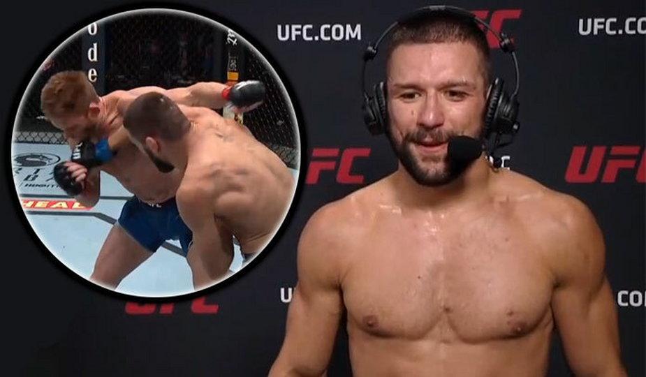"""""""Będę kolejnym mistrzem UFC!"""" Podekscytowany Gamrot po świetnej wygranej na UFC Vegas 23 (WIDEO)"""