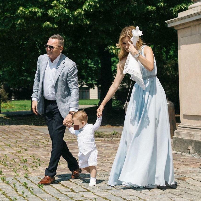 Izabela Janachowska z mężem i synem