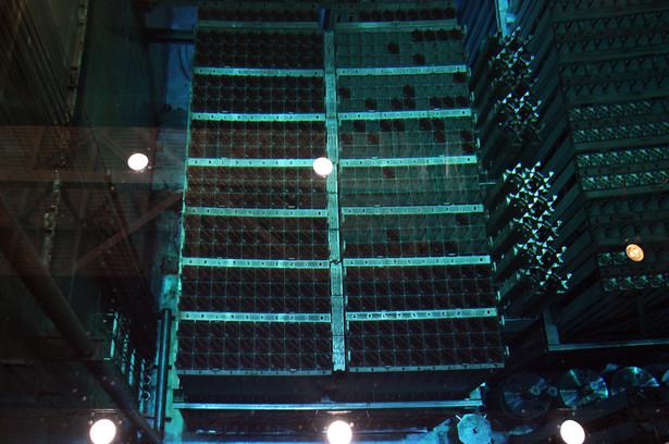 Zbiornik z prętami paliwowymi w reaktorze nr 3 w elektrowni atomowej Fukushima w Japonii