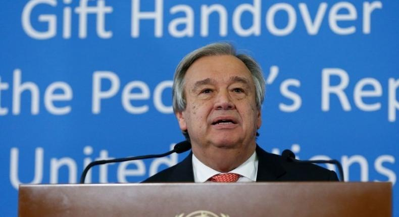 UN Secretary General Antonio Guterres said he was extremely concerned about the state of human rights around the world, remarks that came as US President Donald Trump was reportedly preparing to suspend the US refugee program