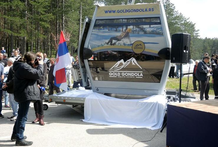 Jedna od 55 kabina zlatiborske gondole