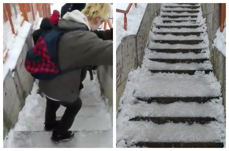 kombo OŠ Aleksa Šantić Beograd sneg klizanje