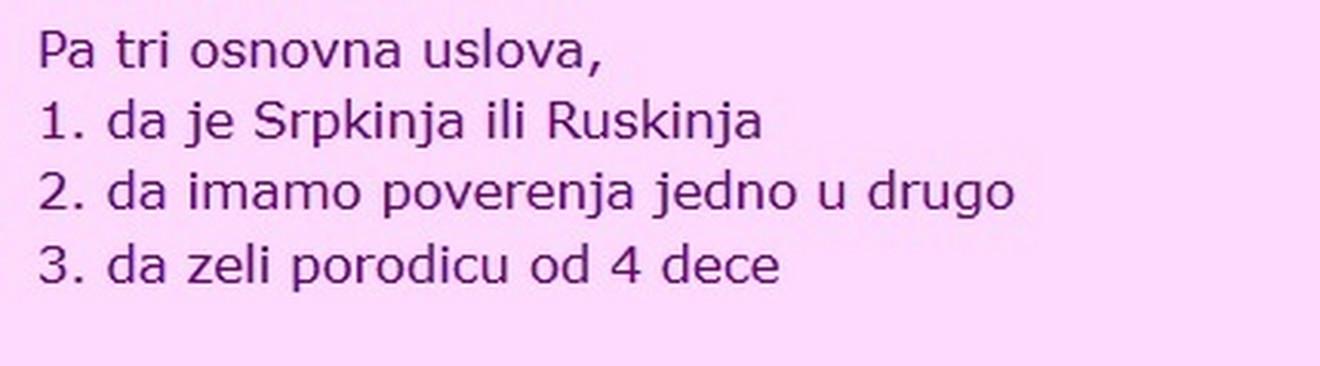 Da je Srpkinja ili Ruskinja