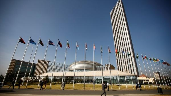 African Union headquarters in the Ethiopian capital Addis Ababa