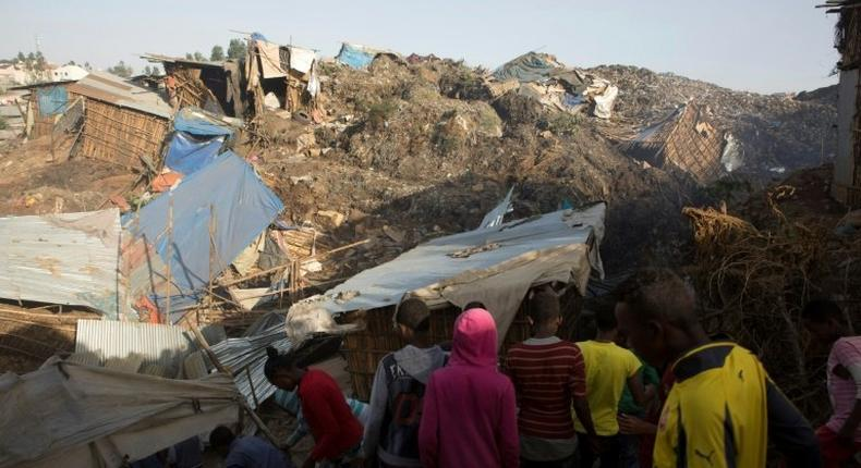 The death toll from a landslide at Ethiopia's largest rubbish dump has risen to 72
