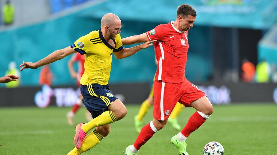 Jakub Świerczok w meczu ze Szwecją
