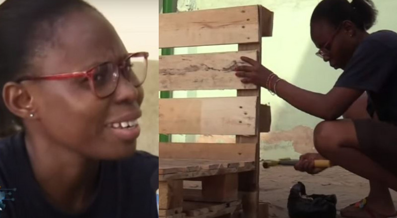 Ghanaian female broadcast journalist reveals why she quit to practice carpentry (video)