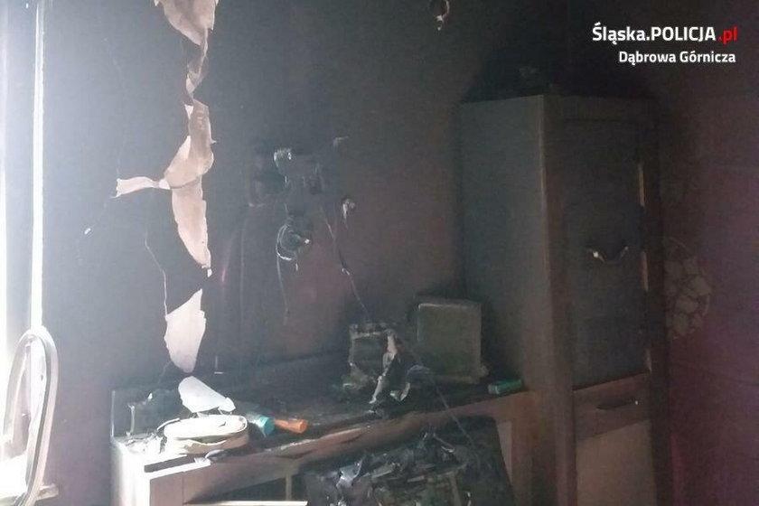 Tragedia policjanta ze Śląska. Był na służbie, gdy spłonął mu dom