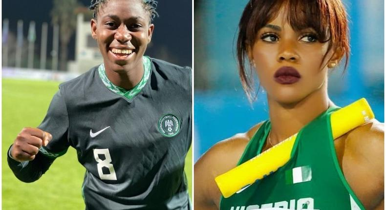 Asisat Oshoala and Blessing Okagbare are two of the most of powerful women in sports (Instagram)