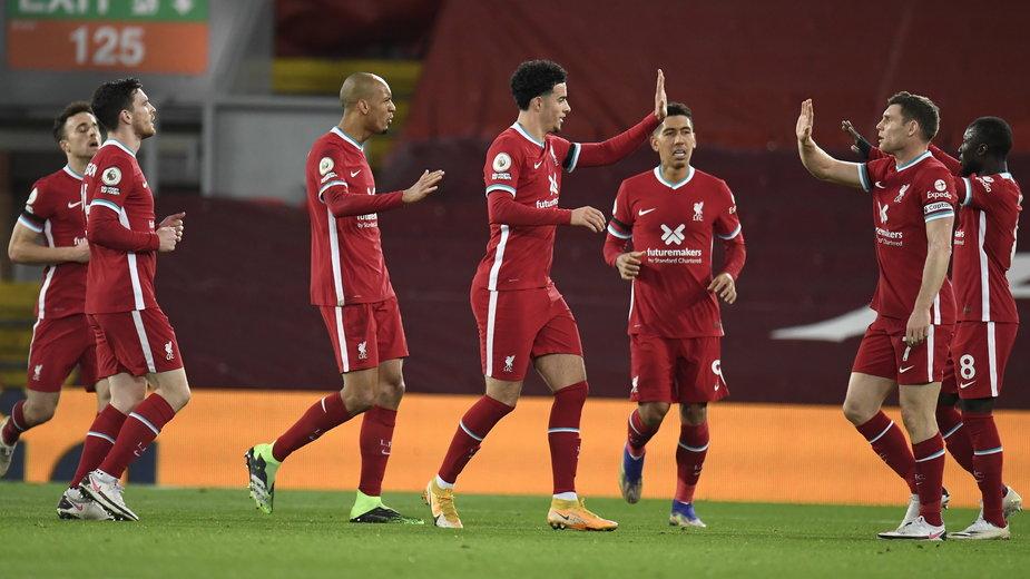 Radość piłkarzy Liverpool FC