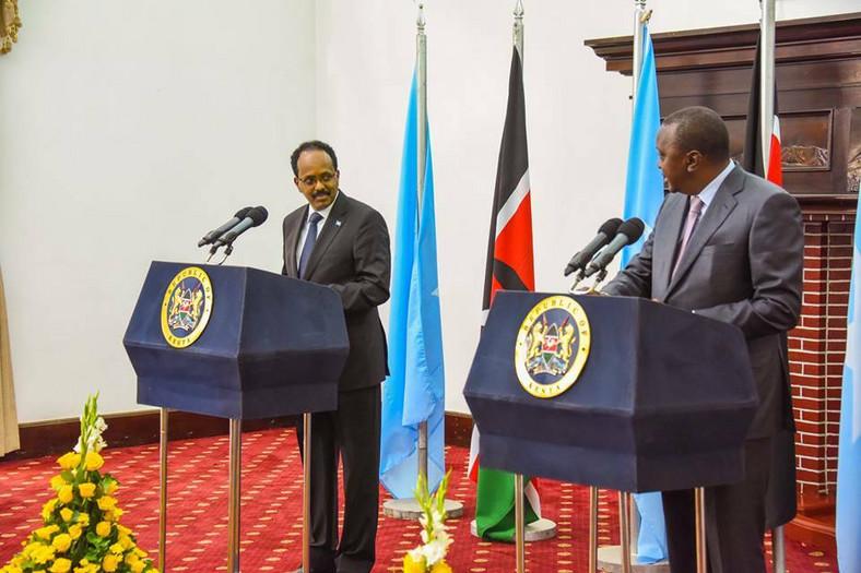Somalia President Mohamed Abdullahi Mohamed and President Uhuru Kenyatta
