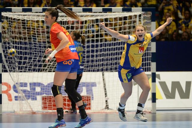 Radost rukometašice Švedske protiv Španije