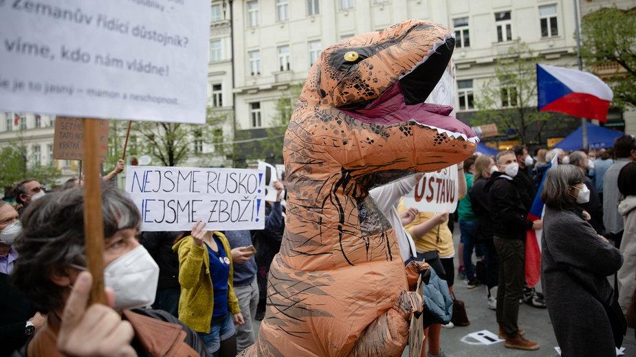 Antyrosyjski protest w Pradze