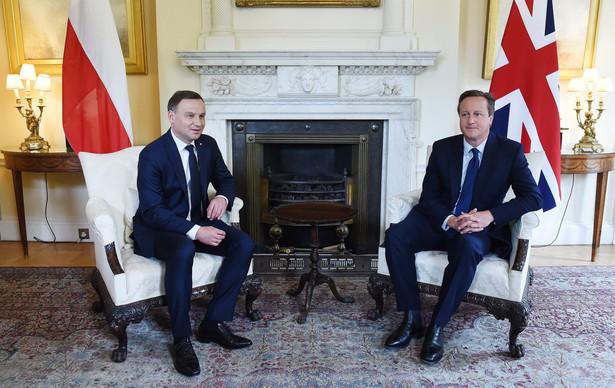 Andrzej Duda i David Cameron
