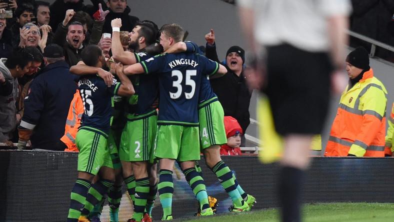 Radość piłkarzy Swansea