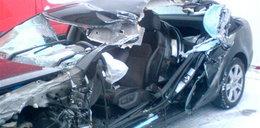 Gwiazdor Lecha miał wypadek. Tak wygląda jego samochód