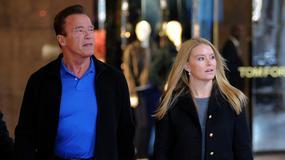 Arnold Schwarzenegger z dziewczyną w Mediolanie. Między nimi jest 27 lat różnicy