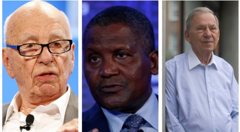 How Aliko Dangote, Nicky Oppenheimer, Johann Rupert, 3 other billionaires raked in $8.35 billion in one year