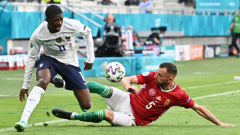 Ousmane Dembele doznał kontuzji w meczu z Węgrami