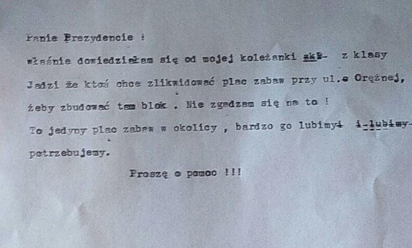"""Mała Antosia pisze do prezydenta: """"Nie zgadzam się na to!"""""""