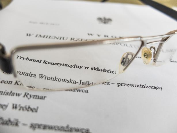 Wyrok Trybunału Konstytucyjnego