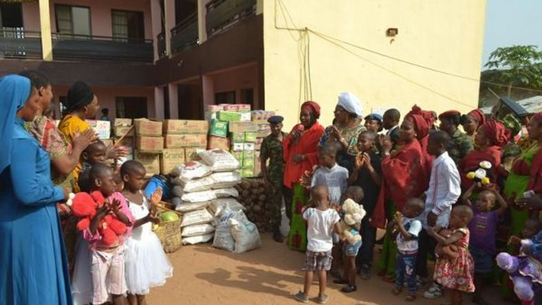 Image result for Nigerian Military donates relief materials