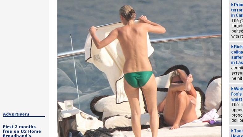 Kate Moss topless na majówce