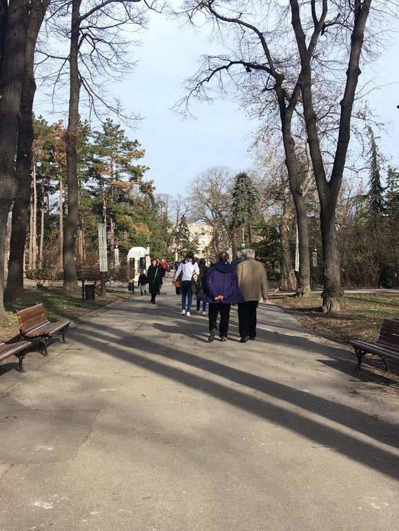 Sunčan februarski dan u Beogradu