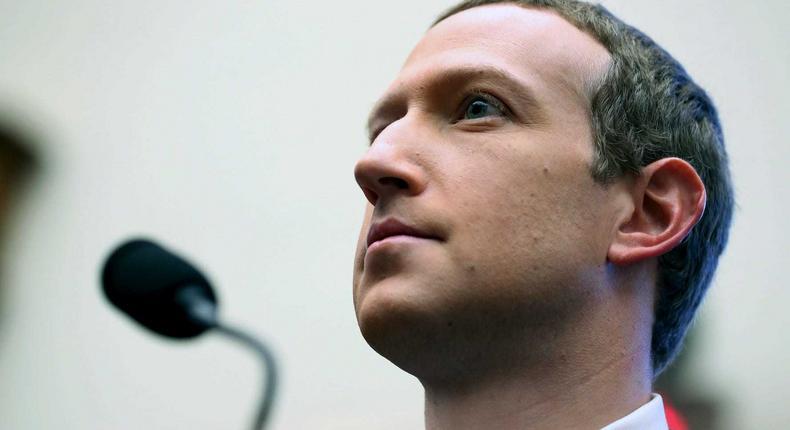Facebook CEO Mark Zuckerberg in Washington DC on Oct. 23, 2019. Facebook owns WhatsApp.
