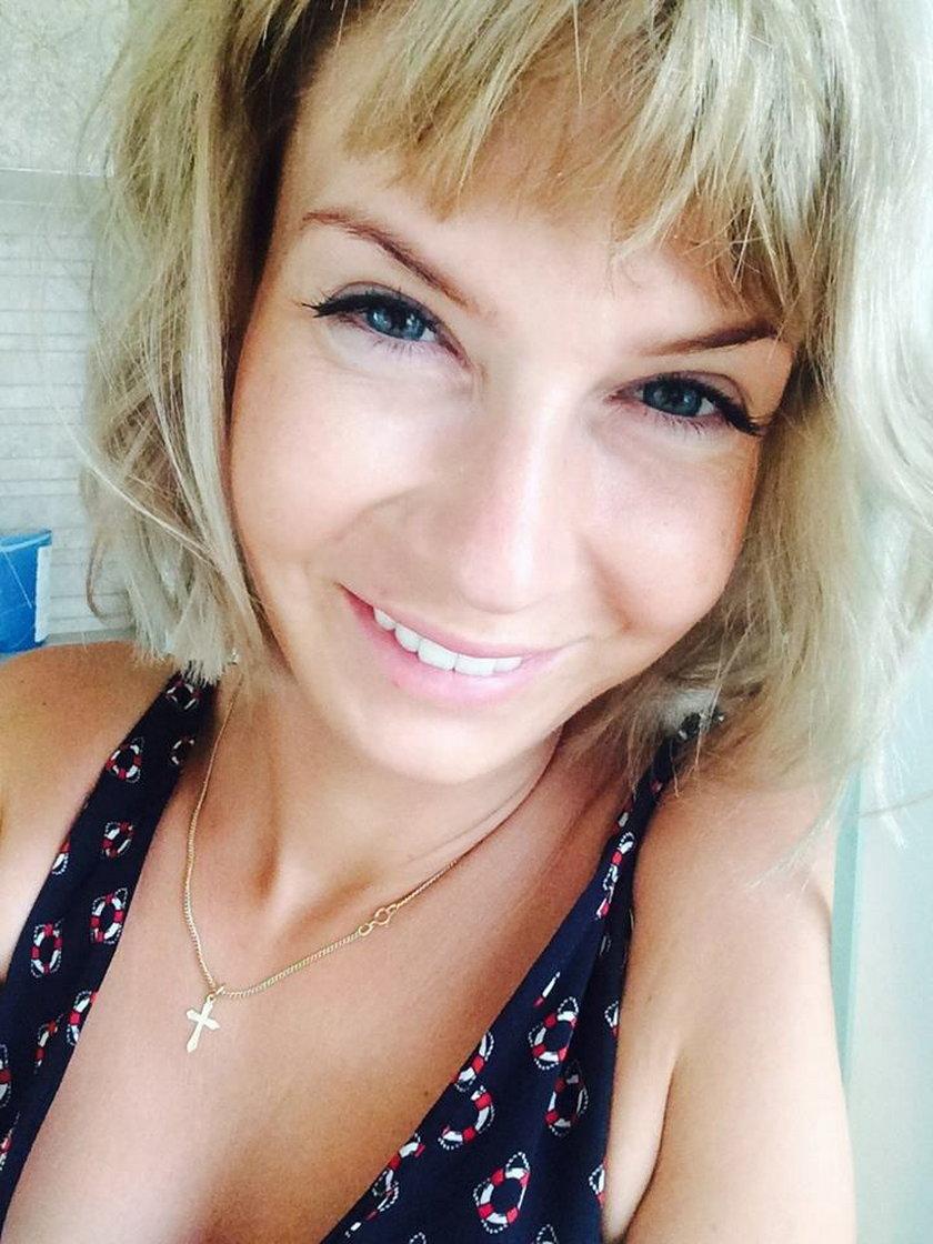 Edyta Pazura jako blondynka