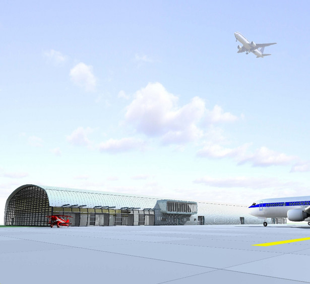 Terminal pasażerski lotniska w Modlinie w Warszawie. Fot. materiały inwestora