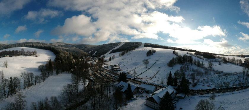 Zima w czeskich górach