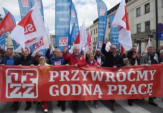1 maja na ulicach: Tak OPZZ, ONR i Ikonowicz obchodzili Święto Pracy [GALERIA]