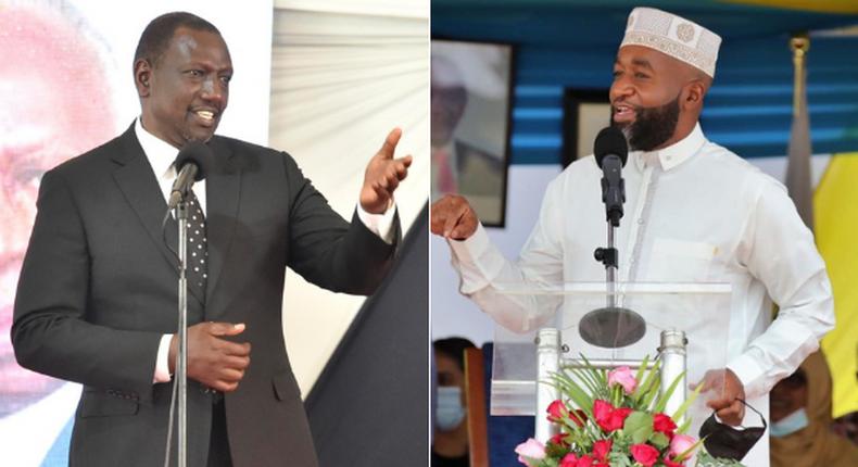 Deputy President William Ruto and Mombasa Governor Hassan Joho