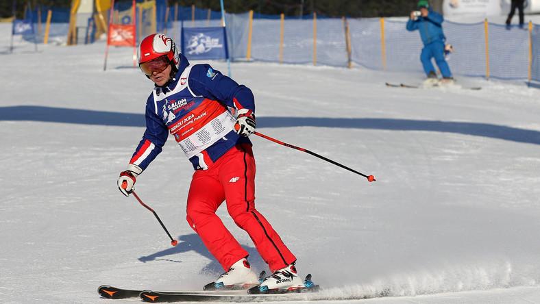 Prezydent RP Andrzej Duda na nartach w styczniu 2020 w Zakopanem