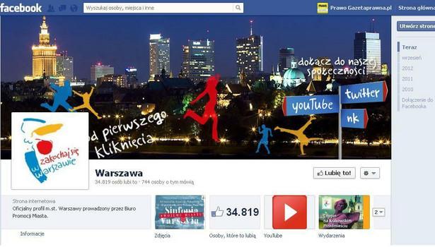 Warszawa wydała już pół miliona złotych na promocję na Facebooku