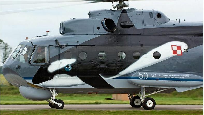 Lotnictwo Marynarki Wojennej wyposażone jest także w dwa klucze śmigłowców zwalczania okrętów podwodnych Mi-14PŁ