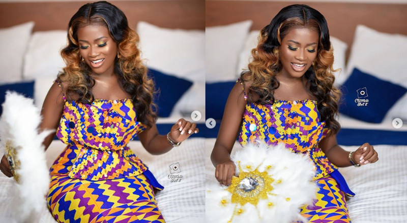 How Fella Makafui slayed in her beautiful Kente wedding dress