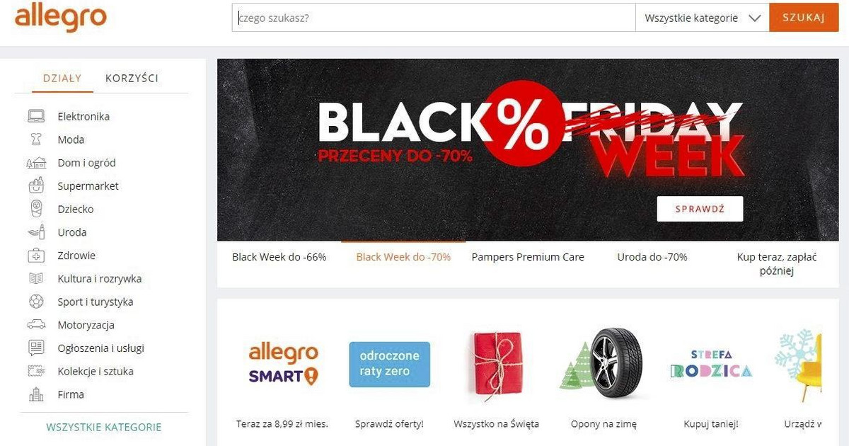 Black Friday Allegro Promocje Przez Caly Tydzien Black Week