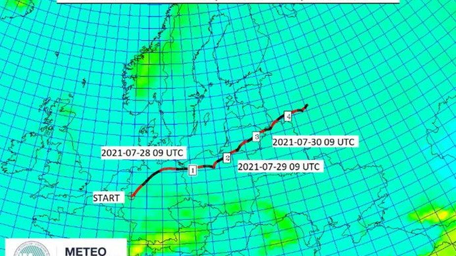 Tak według IMGW będzie się przemieszczać dalej chmura skażonego dymu