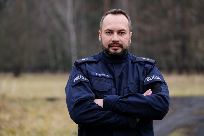 Damian Ciecierski, rzecznik policji w Tarnowskich Górach