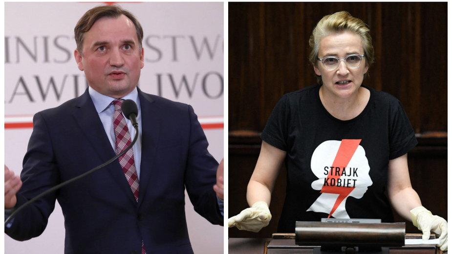 Zbigniew Ziobro i Joanna Scheuring-Wielgus